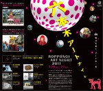 Roppongi Art Night 2011 tras banner