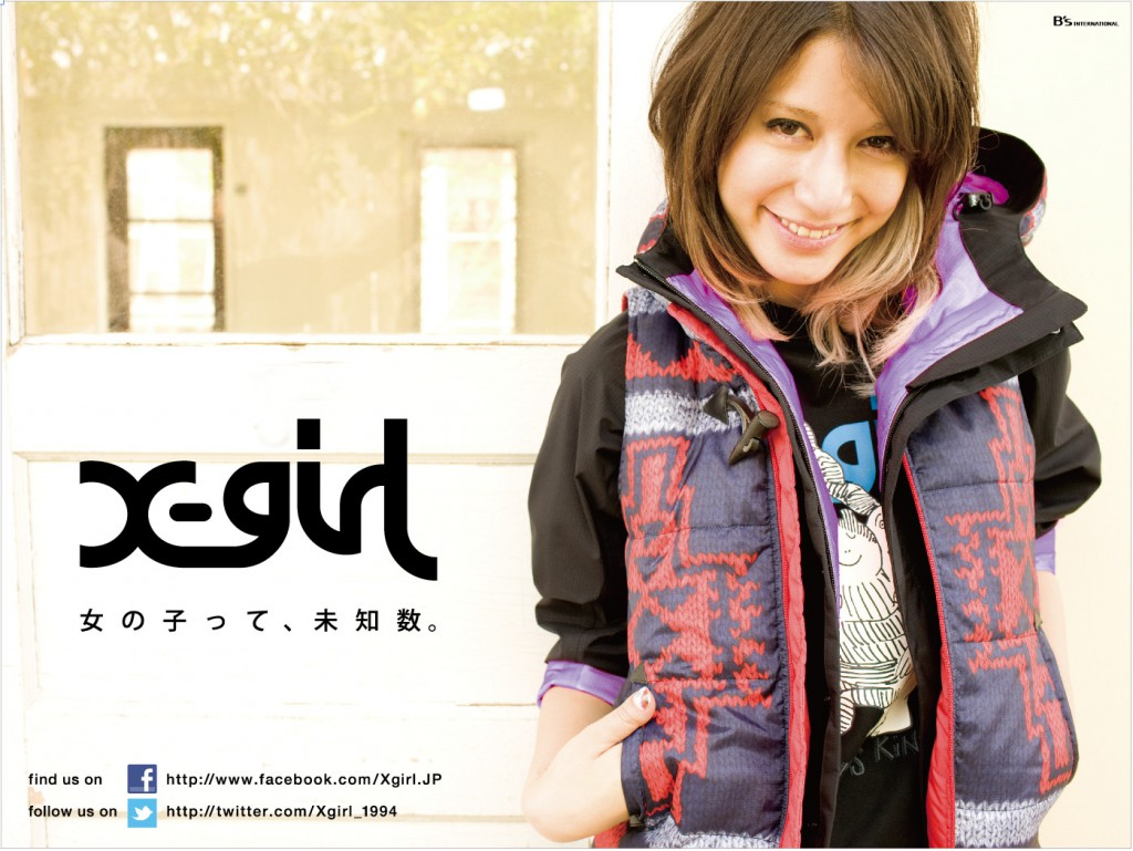 X-girl 2011 fall  harajuku billboad