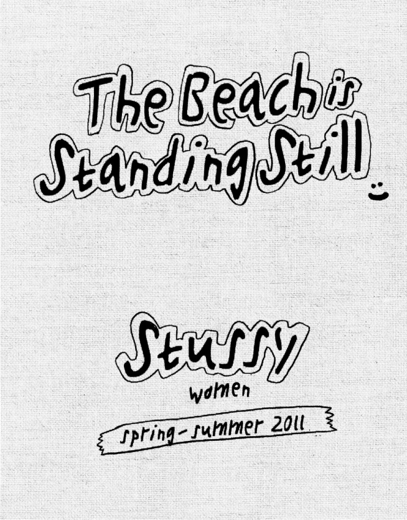 stussy women the beach is standing still